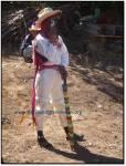 Hombre triqui en el carnaval