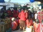 Mujeres trikis de Copala en el mercado de Juxtlahuaca